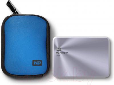 Внешний жесткий диск Western Digital My Passport Ultra Metal Silver 1TB (WDBTYH0010BSL-EESN)