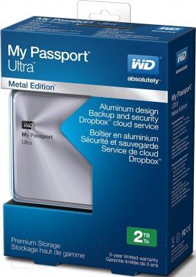 Внешний жесткий диск Western Digital My Passport Ultra Metal Silver 2TB (WDBEZW0020BSL-EESN)