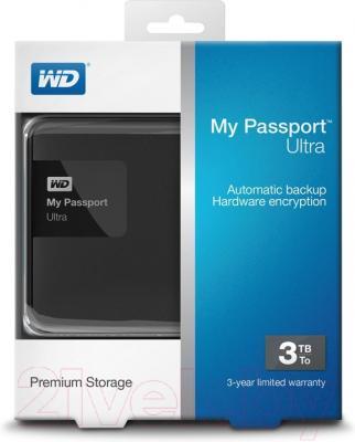 Внешний жесткий диск Western Digital My Passport Ultra 3TB Black (WDBBKD0030BBK-EESN)