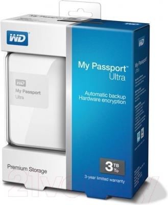 Внешний жесткий диск Western Digital My Passport Ultra 3TB White (WDBBKD0030BWT-EESN)