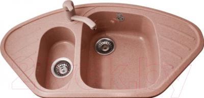 Мойка кухонная Polygran F-14 (розовый)