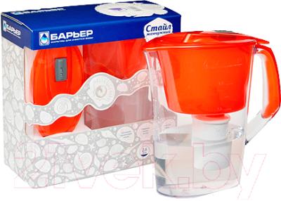 Фильтр питьевой воды БАРЬЕР Стайл (жемчужно-алый)