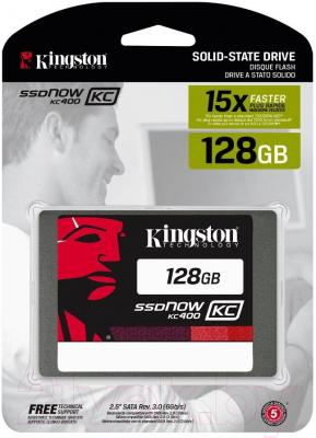 SSD диск Kingston KC400 128GB (SKC400S37/128G)