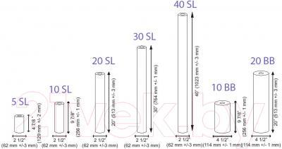 Картридж Aquafilter FCPS5-5 5SL 5мкм (полипропилен) - карзмеры картриджей