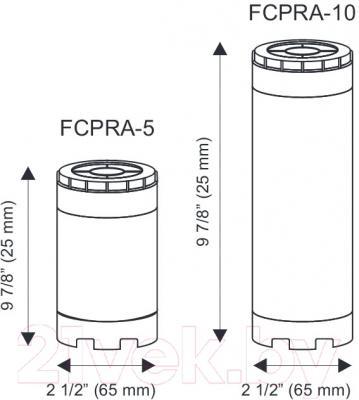 Картридж Aquafilter FCPRA-5 (умягчающий, прозрачный корпус) - размеры картриджей