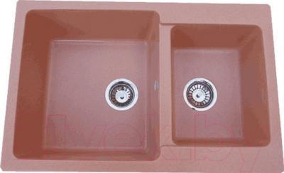 Мойка кухонная Polygran F-15 (розовый)