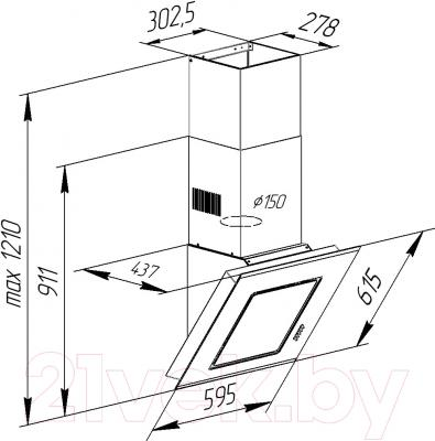 Вытяжка декоративная Pyramida BT 60 BLACK MU/U