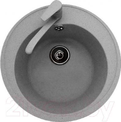 Мойка кухонная Polygran F-08 (серый)