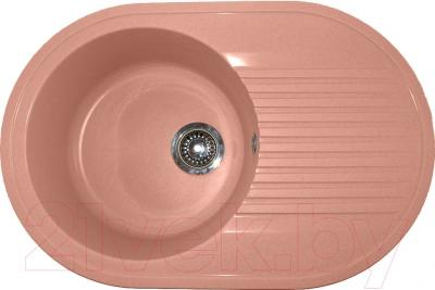 Мойка кухонная Polygran F-16 (розовый)