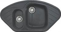 Мойка кухонная GranFest Corner GF-C960E (черный) -