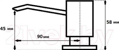 Дозатор встраиваемый в мойку GranFest Квадрат 004 (белый)