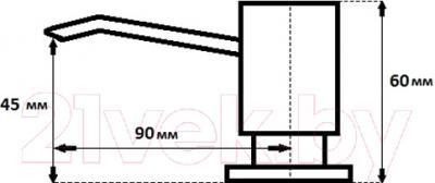 Дозатор встраиваемый в мойку GranFest 002 (серый)