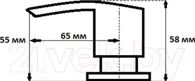 Дозатор встраиваемый в мойку GranFest Плоский 001 (светло-розовый)