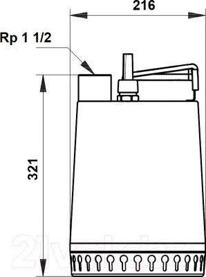 Дренажный насос Grundfos Unilift AP12.40.04.A1 (96011018)
