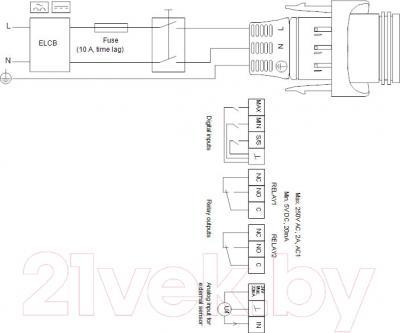 Бытовой насос Grundfos Magna3 32-60 180 (97924255) - схема подключений