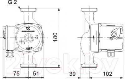 Циркуляционный насос Grundfos UPS 32-30 180 (59583000)