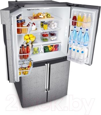 Холодильник с морозильником Samsung RF905QBLAXW