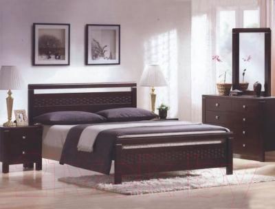 Двуспальная кровать Eurotrend 1.4-REDANG-WSR-BW-KD (капучино)