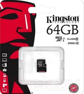 Карта памяти Kingston MicroSDXC UHS-I Class 10 64GB (SDC10G2/64GBSP)