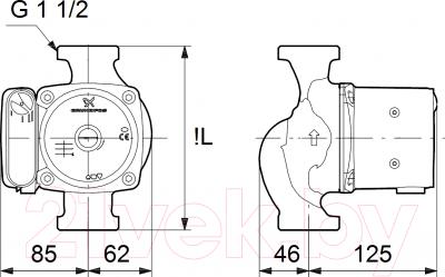Поверхностный насос Grundfos UPS 25-80 N 180 (95906439)