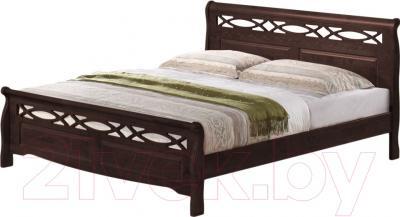Двуспальная кровать Eurotrend 1.6-966-WSR-BW (капучино)