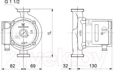 Циркуляционный насос Grundfos UPS 25-120 180 (52588336)