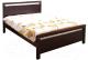 Двуспальная кровать Eurotrend 1.6-REDANG-SW-WSR-BW (капучино) -