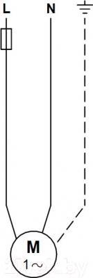 Бытовой насос Grundfos UPS 32-70 180 (96621355) - схема подключений