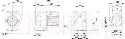 Поверхностный насос Grundfos UPS 40-60/2 F (96401915)