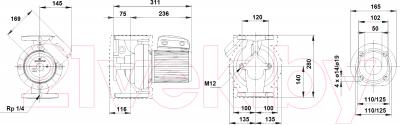 Циркуляционный насос Grundfos UPS 50-120 F (96402101)