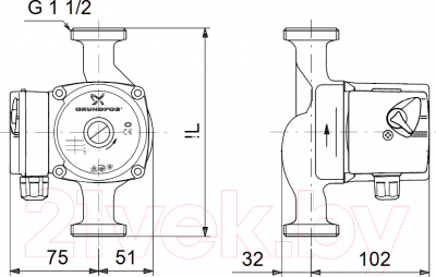 Циркуляционный насос Grundfos UPS 25-40 N 180 (96913060)