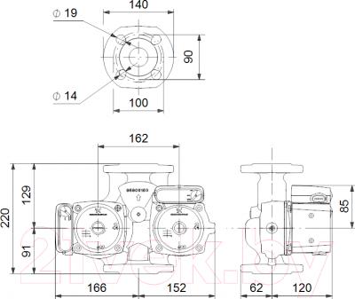 Циркуляционный насос Grundfos UPSD 32-80 F 220 (95906459)