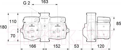 Циркуляционный насос Grundfos UPSD 32-80 180 (95906455)