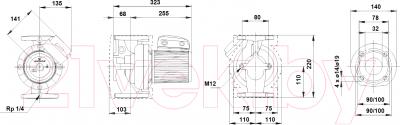 Циркуляционный насос Grundfos UPS 32-60 F (96401771)