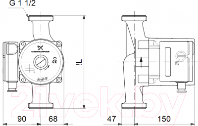 Циркуляционный насос Grundfos UPS 25-100 180 (95906480)