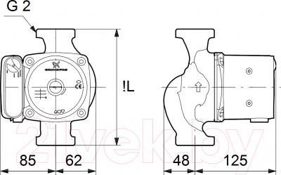 Циркуляционный насос Grundfos UPS 32-80 N 180 (95906448)