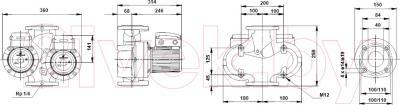 Бытовой насос Grundfos UPSD 40-60/2 F (96401920)