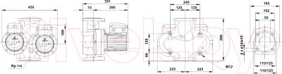 Циркуляционный насос Grundfos UPSD 50-180 F (96402139)