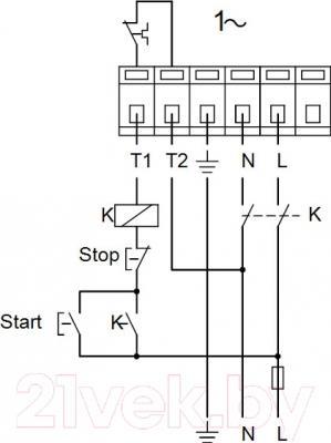 Циркуляционный насос Grundfos UPSD 50-180 F (96402139) - схема подключений