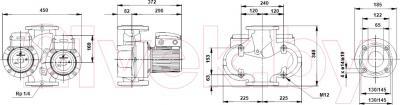 Поверхностный насос Grundfos UPS D65-120F (96402282)