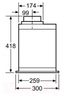 Вытяжка скрытая Bosch DHL575C