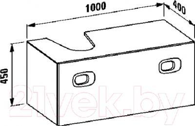 Тумба под умывальник Laufen Mimo (4345530555311) - габариты
