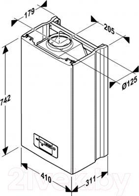 Газовый котел Protherm Гепард 23 MTV - технический чертеж