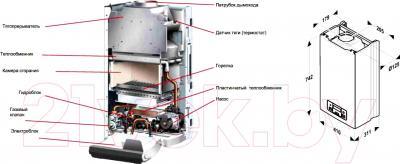 Газовый котел Protherm Пантера 25 KTV - технический чертеж