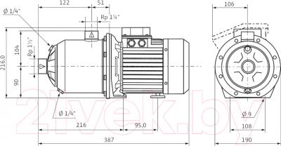 Самовсасывающий насос Wilo MHI 802-1/Е