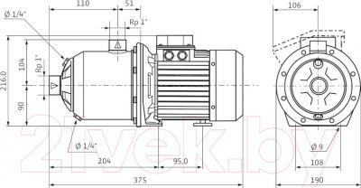 Самовсасывающий насос Wilo MHI 804N-1/E