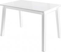Обеденный стол Mamadoma Тирк (белый/стекло белое) -