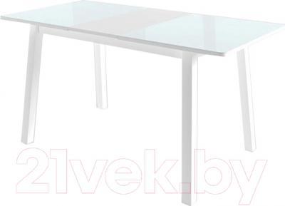 Обеденный стол Mamadoma Тирк (белый/стекло белое)