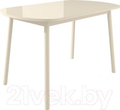 Обеденный стол Mamadoma Раунд (кремовый/кремовый)