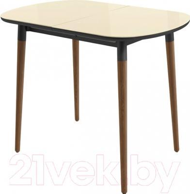 Обеденный стол Mamadoma Бейз mini (кремовый/темное дерево)
